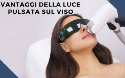 luce pulsata sul viso